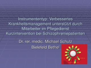 Dr. rer. medic. Michael Schulz Bielefeld Bethel