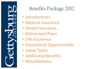 Benefits Package 2012