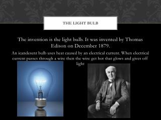 The light bulb