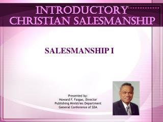 INTRODUCTORY  CHRISTIAN SALESMANSHIP