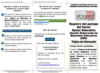 COMISIÓN PARITARIA ESTATAL DE CARRERA  MAGISTERIAL NAYARIT