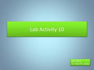 Lab Activity 10