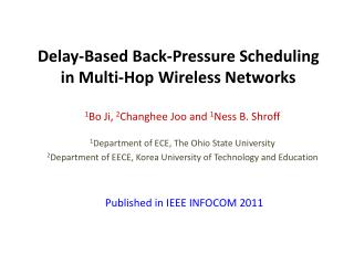 Delay-Based Back-Pressure Scheduling  in  Multi-Hop Wireless Networks