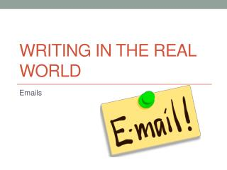 Writing in the Real World