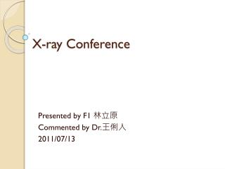 X-ray Conference