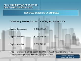 PO 10 ADMINISTRAR PROYECTOS DIRECTRICES GERENCIALES