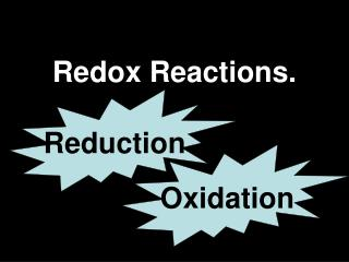 Redox Reactions.