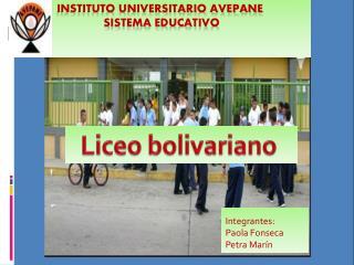 Instituto universitario AVEPANE  Sistema Educativo