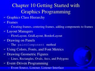 Chapter 10 Getting Started with Graphics Programming
