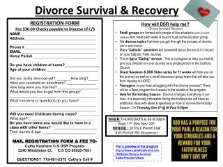 Divorce Survival & Recovery