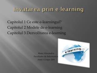 Invatarea prin  e-learning