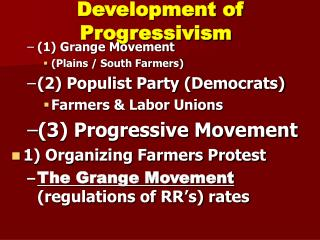 Development of Progressivism