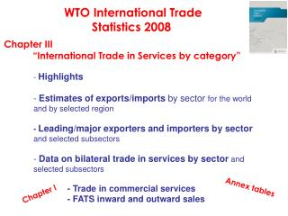 WTO International Trade  Statistics 2008