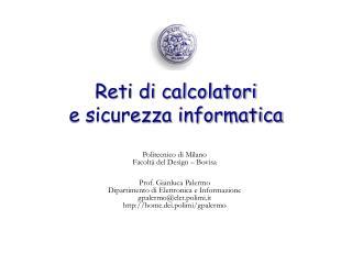 Reti di calcolatori  e sicurezza informatica