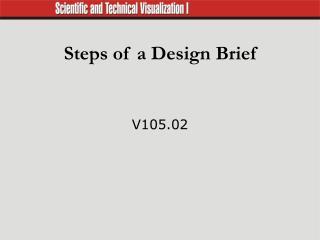 Steps of a Design Brief