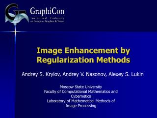 Image Enhancement by Regularization Methods