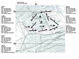 Lane 1 MTC SP: UK 6099/7860 RP:  UK 6084/7838 AZ:  229 o  magnetic Dist:  260 m