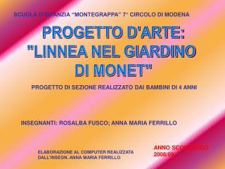 PROGETTO D'ARTE: