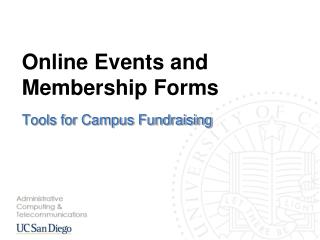 Online Events and Membership Forms
