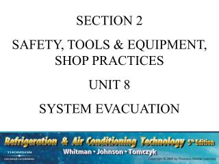 SECTION 2 SAFETY, TOOLS & EQUIPMENT, SHOP PRACTICES UNIT 8 SYSTEM EVACUATION