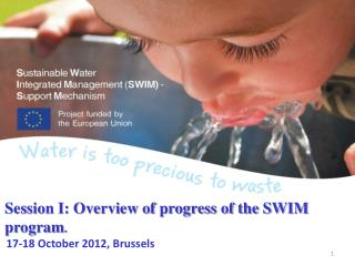 Session I: Overview of progress of the SWIM program . 17-18 October 2012, Brussels