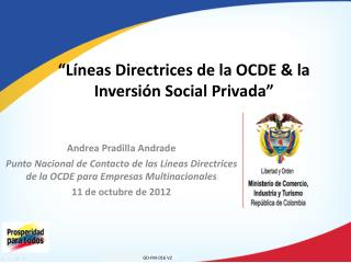 """""""Líneas Directrices de la OCDE & la Inversión Social Privada"""""""