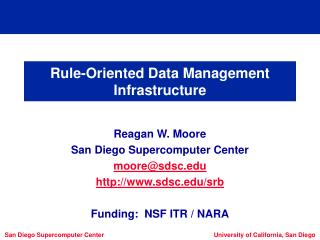 Rule-Oriented Data Management Infrastructure