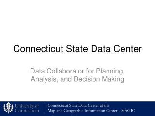 Connecticut State Data Center