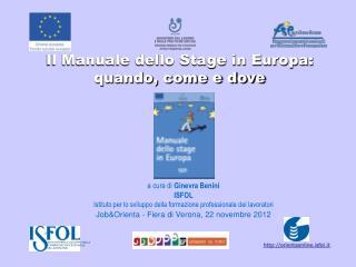Il Manuale dello Stage in Europa: quando, come e dove
