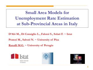 Small Area Models for  Unemployment Rate Estimation at Sub-Provincial Areas in Italy