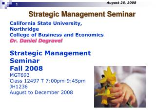 Strategic Management Seminar