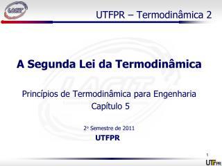 UTFPR – Termodinâmica 2