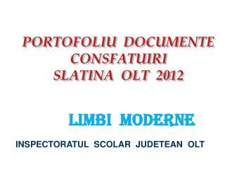 PORTOFOLIU  DOCUMENTE   CONSFATUIRI   SLATINA  OLT  2012