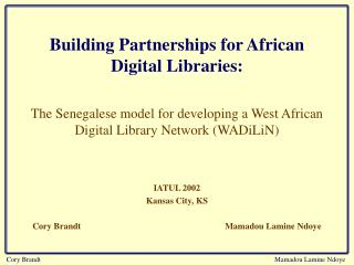 Building Partnerships for African Digital Libraries: