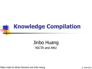 Knowledge Compilation