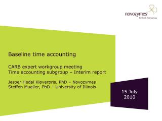 Baseline time accounting