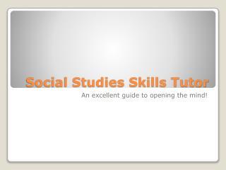 Social Studies Skills Tutor