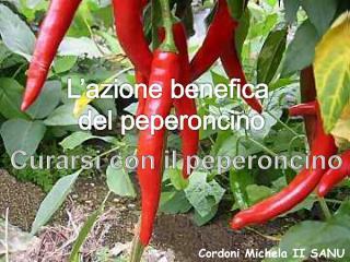 L'azione benefica  del peperoncino