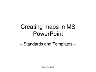 Creating maps in MS PowerPoint