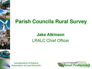 Jake Atkinson LRALC Chief Officer