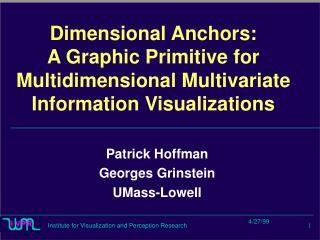Dimensional Anchors: