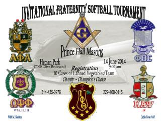 Invitational Fraternity Softball Tournament