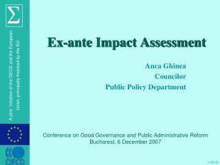 Ex-ante Impact Assessment