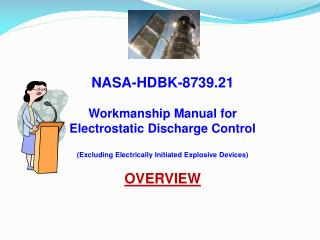 NASA-HDBK-8739.21  Workmanship Manual for Electrostatic Discharge Control  Excluding Electrically Initiated Explosive De