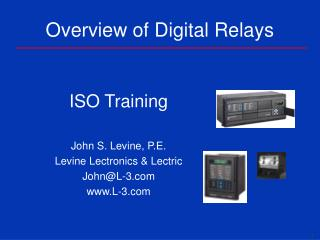 Overview of Digital Relays