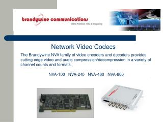 Network Video Codecs