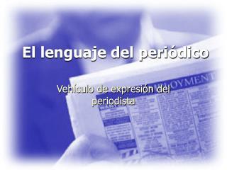 El lenguaje del periódico