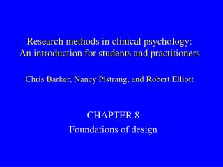 CHAPTER 8 Foundations of design