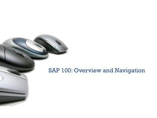 SAP 100: Overview and Navigation