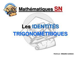 Mathématiques  SN